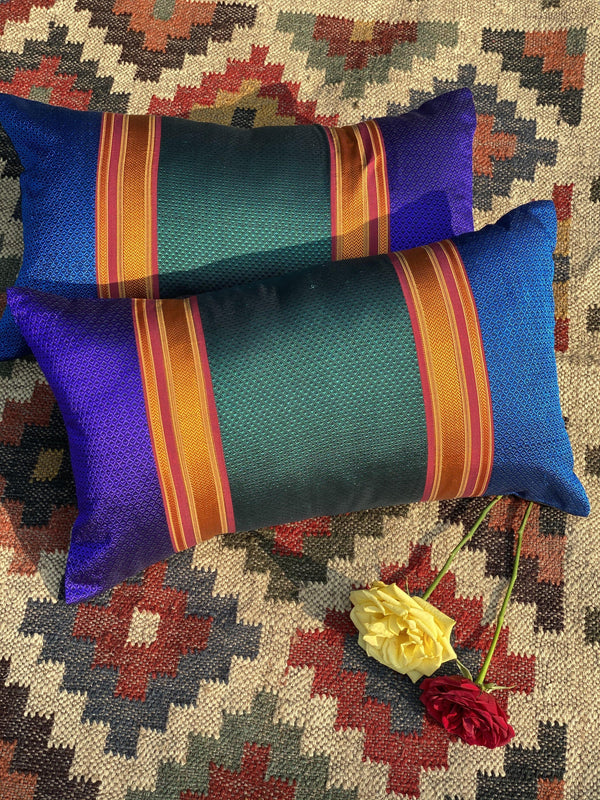 Janjira - Handwoven Khun Cushion 12x20""