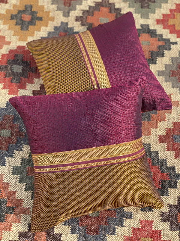 Hubli - Handwoven Khun Cushion 16x16""