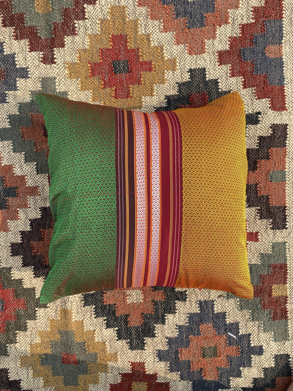 Junnar - Handwoven Khun Cushion 16x16""