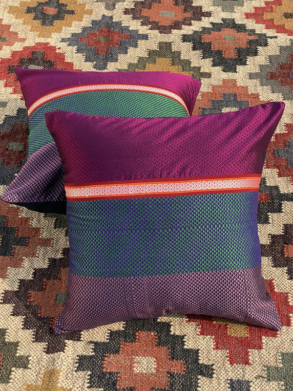 Bindusara - Handwoven Khun Cushion 16x16""