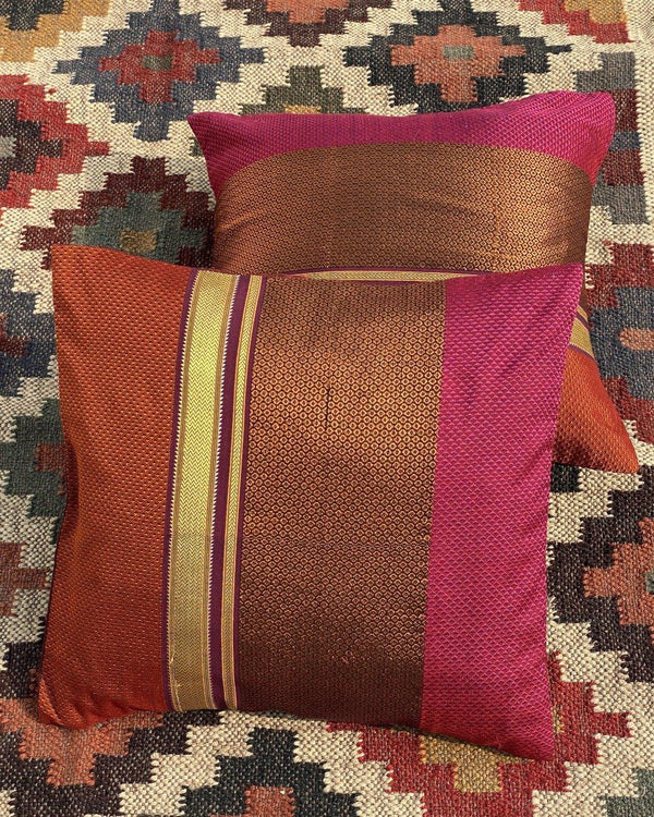 Bhadra - Handwoven Khun Cushion 16x16""