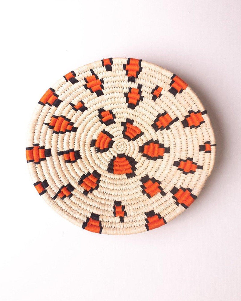 Sherni Orange Leopard weave Sabai Basket