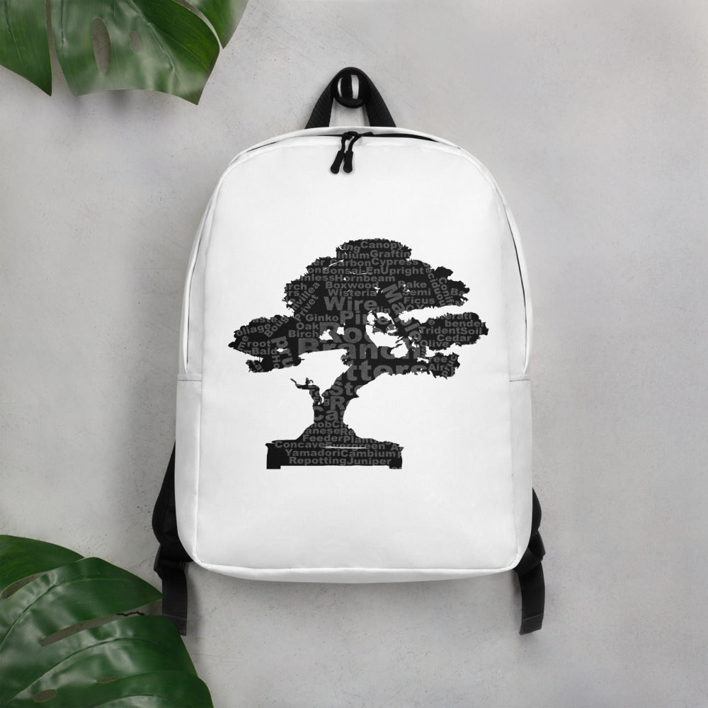 Bonsai Tree Terms Minimalist Backpack