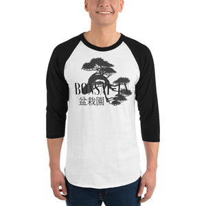 Bonsai-En Logo 3/4 sleeve raglan shirt