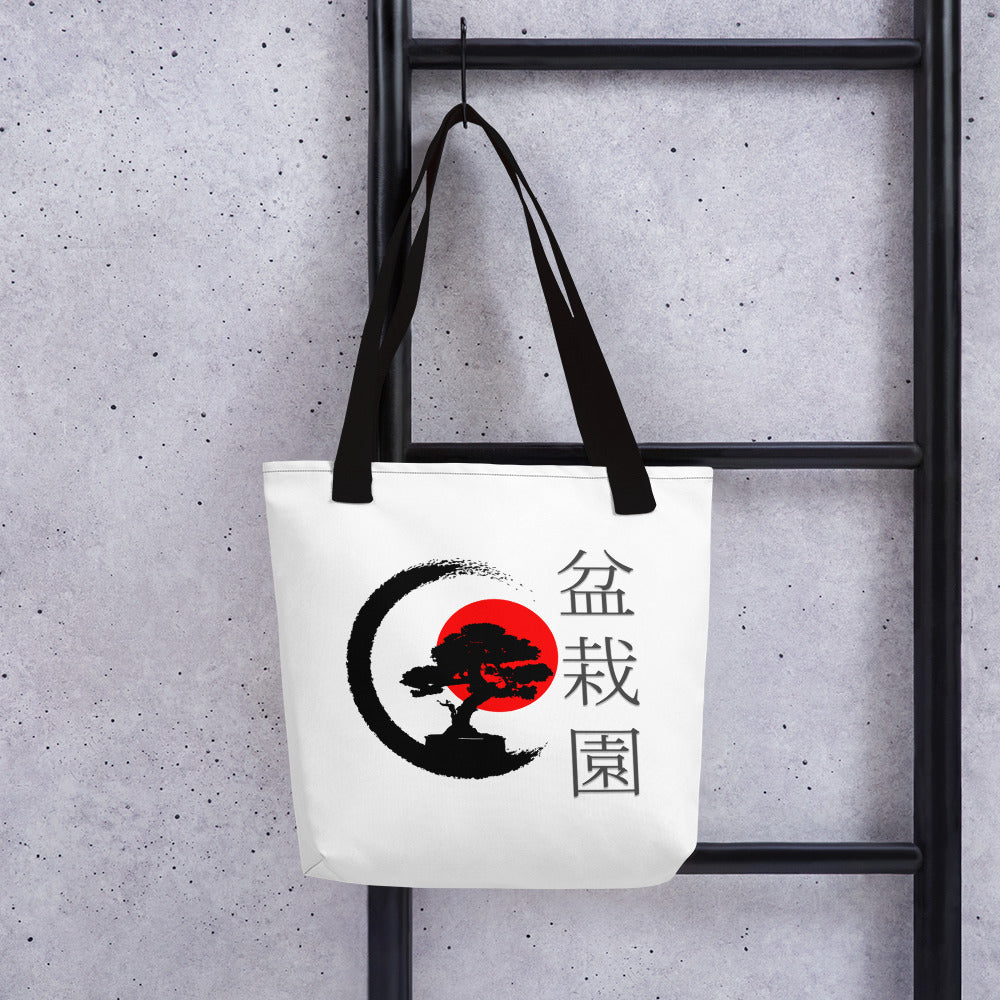 Red Sun Bonsai Tote bag