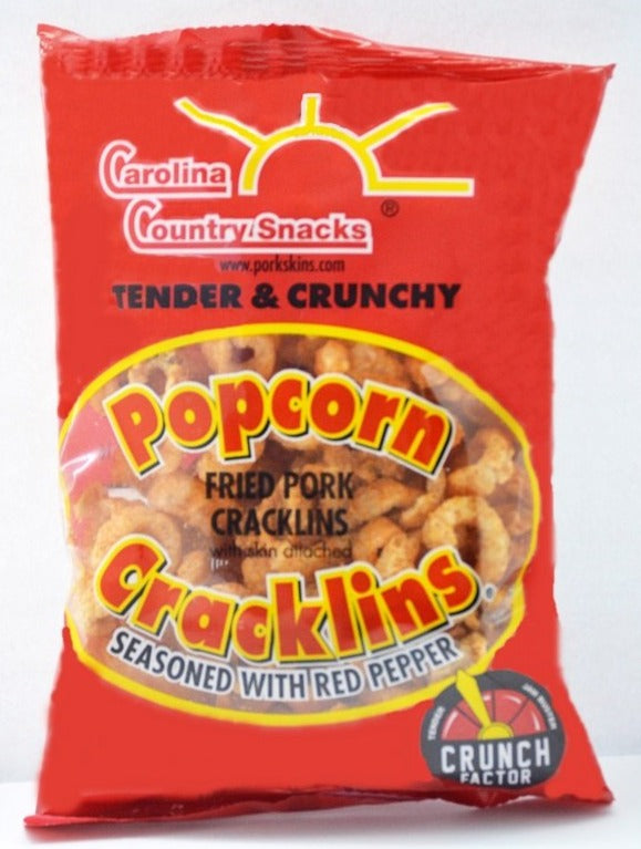 Popcorn Cracklins Red Pepper Box of 12