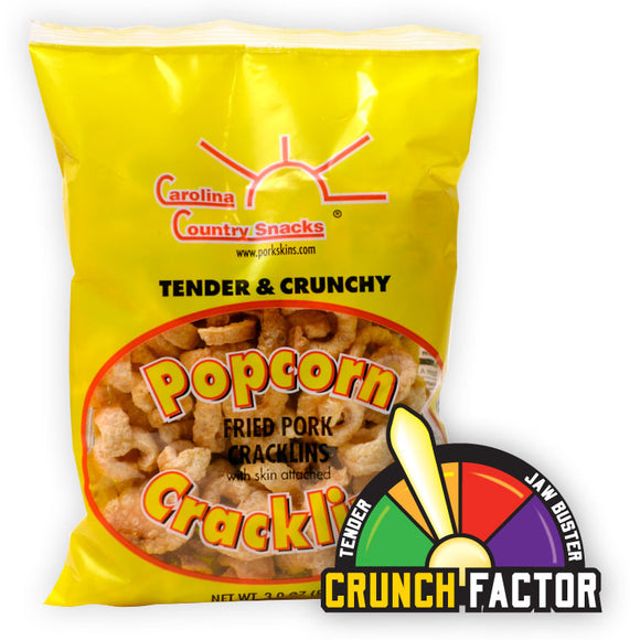 Plain Popcorn Cracklins Box of 12