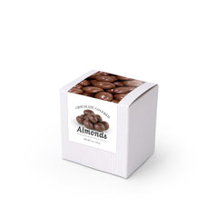 "Almonds, Chocolate Covered, 3"" White Box 48ct/4oz"