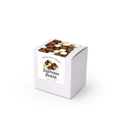 "Chocolate Covered Espresso Bean Mix, 3"" White Box 48ct/3.5oz"