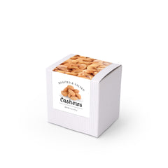"Cashews, Roasted & Salted, 3"" White Box 48ct/4oz"