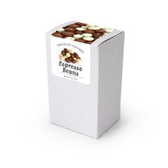"Chocolate Covered Espresso Bean Mix, 5"" White Box 48ct/3.5oz"