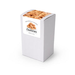 "Cashews, Roasted & Salted, 5"" White Box 48ct/4oz"