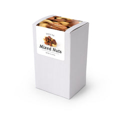 "Deluxe Mixed Nuts, 5"" White Box 48ct/4oz"