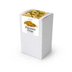 "Plantain Chips, 5"" White Box 48ct/1.5oz"