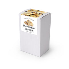 "Cookies, Chocolate Chip Shortbread, 5"" White Box 48ct/2oz"