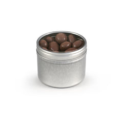 Almonds, Chocolate Covered, Tin Round Window Small 48ct/2.7oz