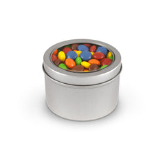 M&M's, Plain, Tin Round Window Medium 48ct/7.4oz
