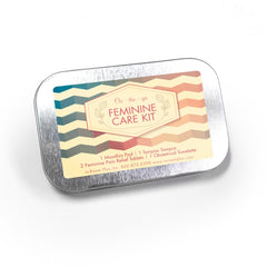 Feminine Care Kit, Hinged Tin 96ct