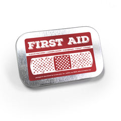 First Aid Kit Hinged Tin 96ct