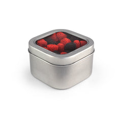 Raspberries & Blackberries, Tin Square Window Medium 48ct/6.2oz