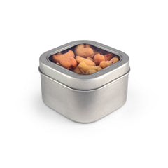 Cashews, Roasted & Salted, Tin Square Window Medium 48ct/4.8oz