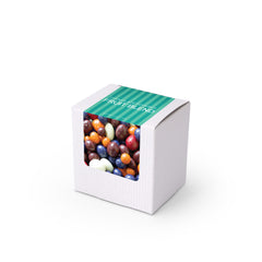 "Dried Fruit Pieces, Chocolate Covered, 3"" White Box 48ct/3.8oz"