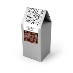 Almonds, Chocolate Covered, Silver Tent Box 48ct/4.0oz