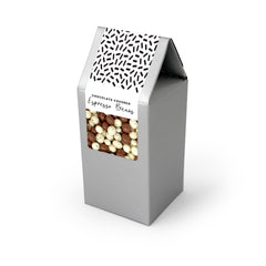 Chocolate Covered Espresso Bean Mix, Silver Tent Box 48ct/3.5oz