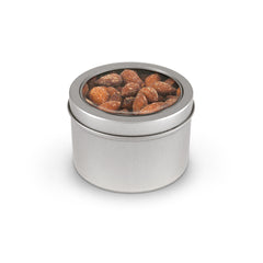 Almonds, Smoked, Tin Round Window Medium 48ct/5.5oz