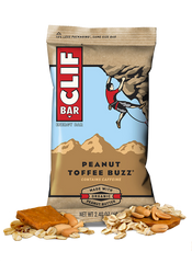 Clif Bar, Peanut Toffee Buzz, 12/2.25oz
