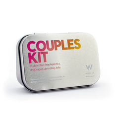Couples Kit Hinged Tin with Custom Logo 96ct.