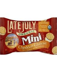 Late July Mini Cheddar Cheese Sandwich 32ct/1.13oz