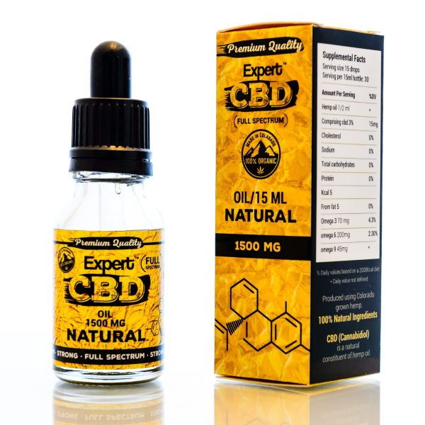 CBD Oil Ireland 1500 MG Natural Flavour
