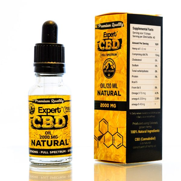 CBD Oil Ireland 2000 MG Natural Flavour