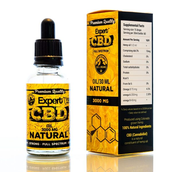 CBD Oil Ireland 3000 MG Natural Flavour