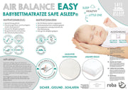 safe asleep® von roba Babybettmatratze AIR BALANCE EASY, 70x140x9cm, für optimales Schlafklima