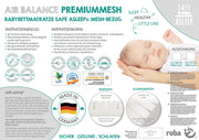 Babybettmatratze 'safe asleep®', AIR BALANCE PREMIUMMESH, 70 x 140 x 9 cm, optimales Schlafklima