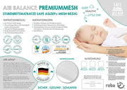safe asleep® roba Stubenbettmatratze AIR BALANCE PREMIUMMESH, 45 x 85 x 5,5cm, optimales Schlafklima