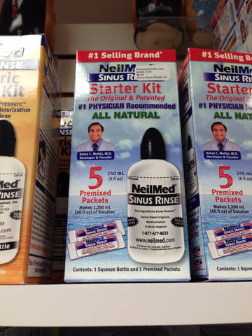 Sinus Rinse Starter Kit :: Rinse Bottle & 5 Packets
