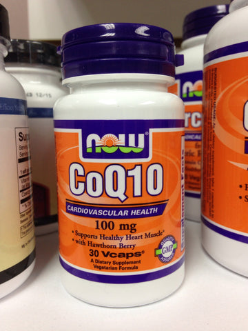 CoQ10 100mg #30 VCaps NOW Brand