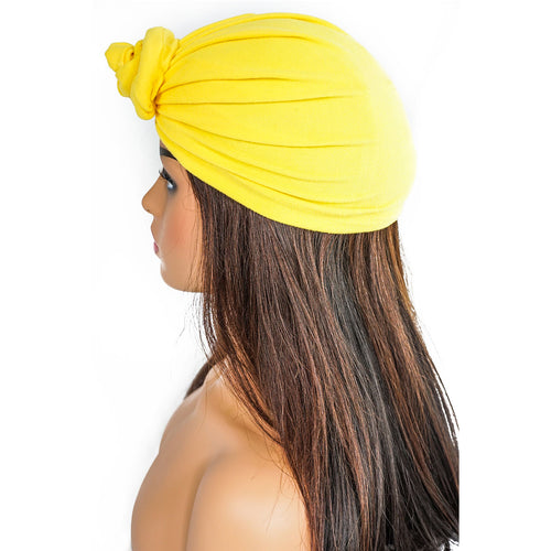 SOLID YELLOW KNOT | TURBAN