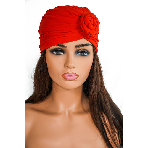 SOLID RED KNOT | TURBAN