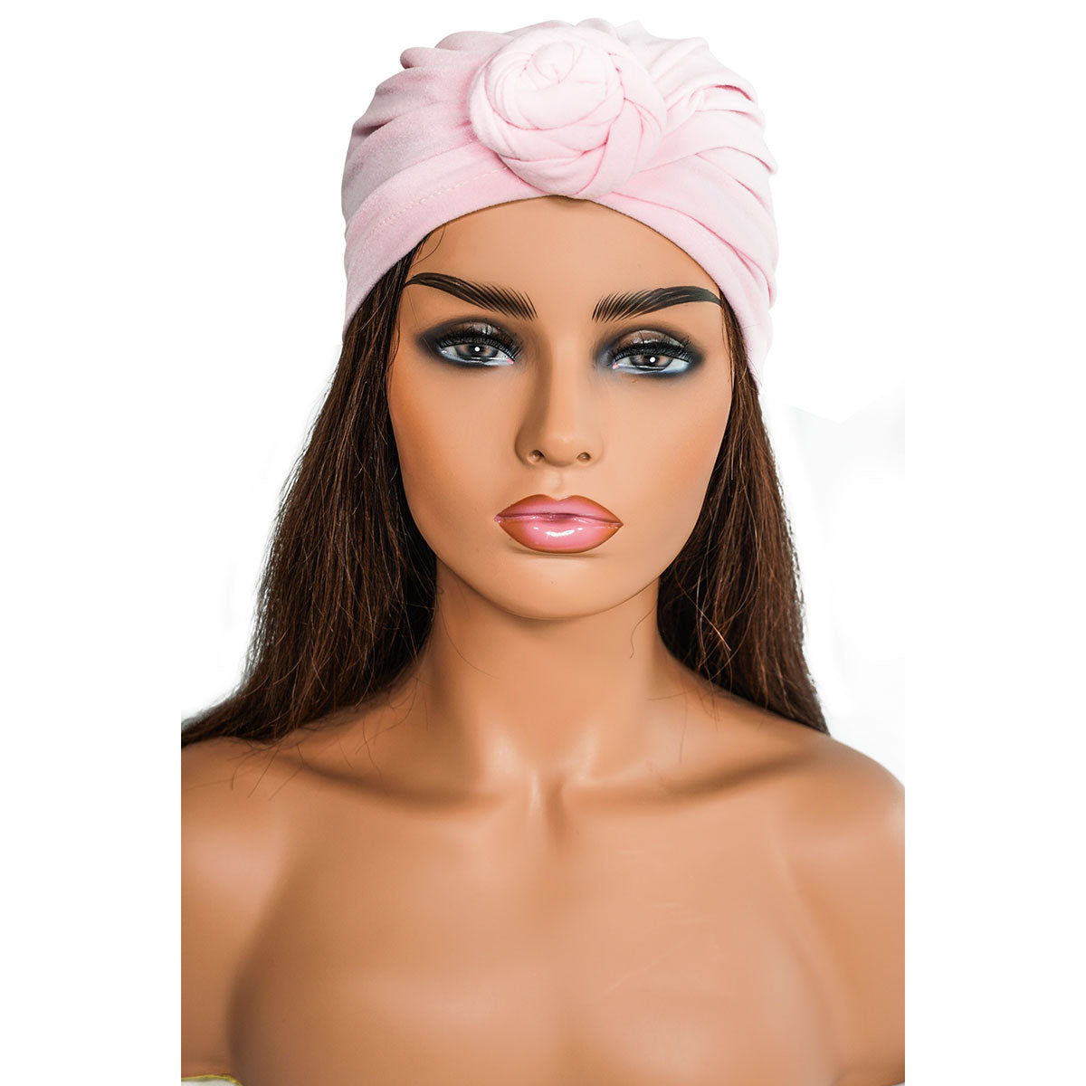 SOLID  PINK KNOT | TURBAN