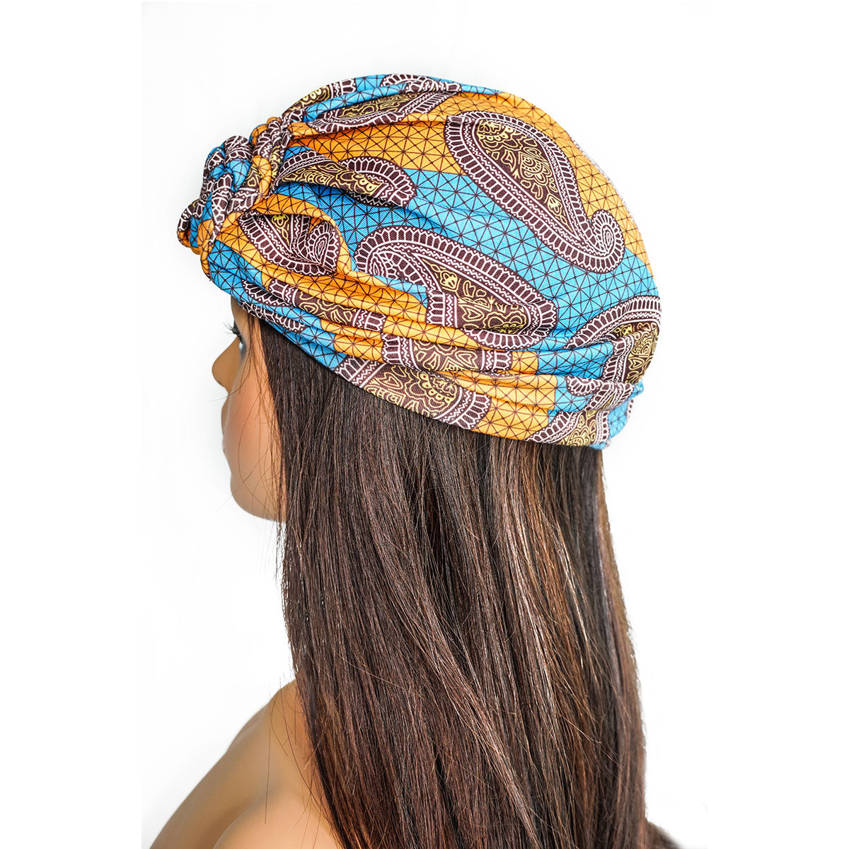 AFRICANA ORANGE KNOT | TURBAN