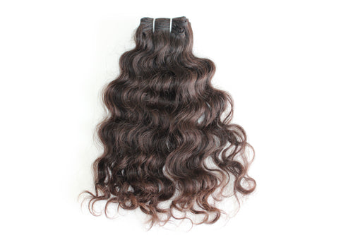 Indian Curly Hair Extension in virgin color and texture.