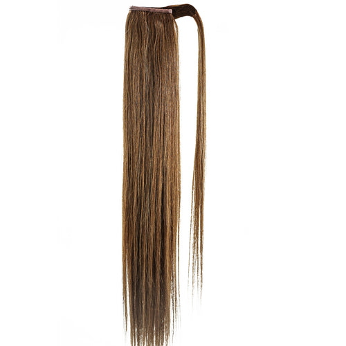 MEDIUM BROWN (6) STRAIGHT | WRAP PONYTAIL HAIR EXTENSION