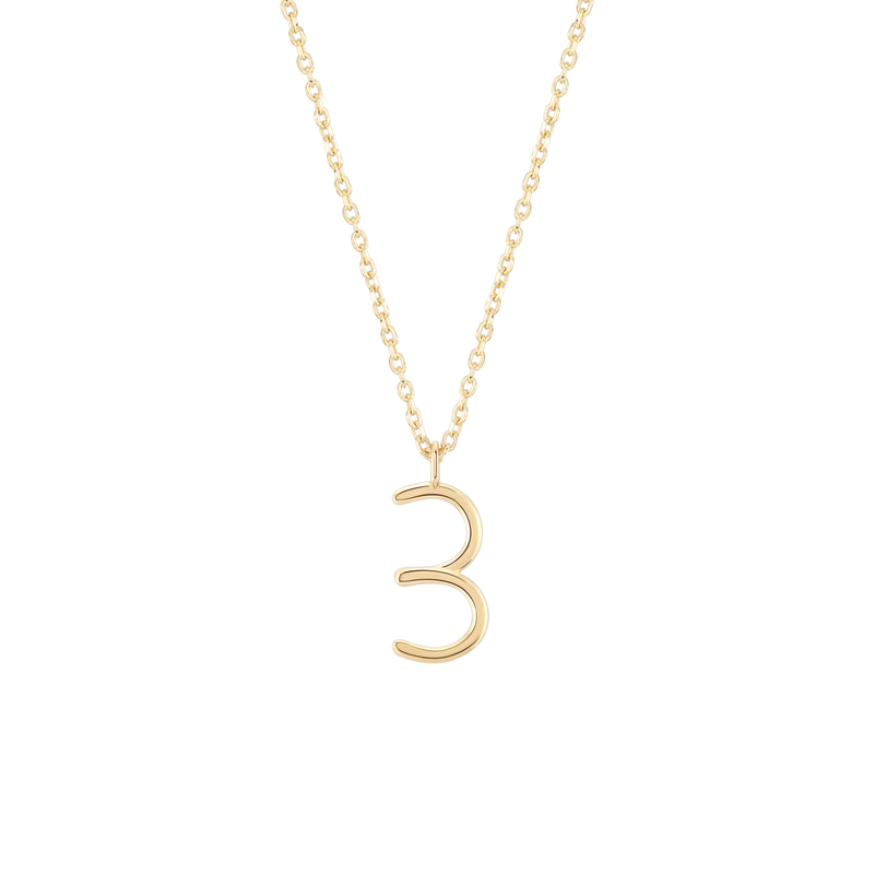Number 3 Necklace