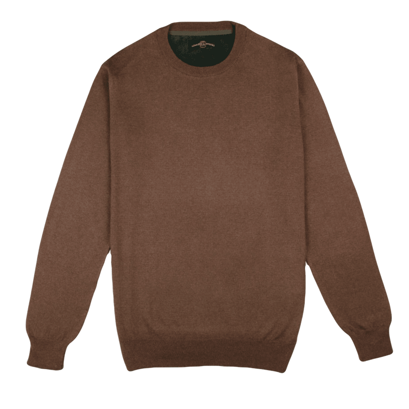 Crew Neck Brown Sweater