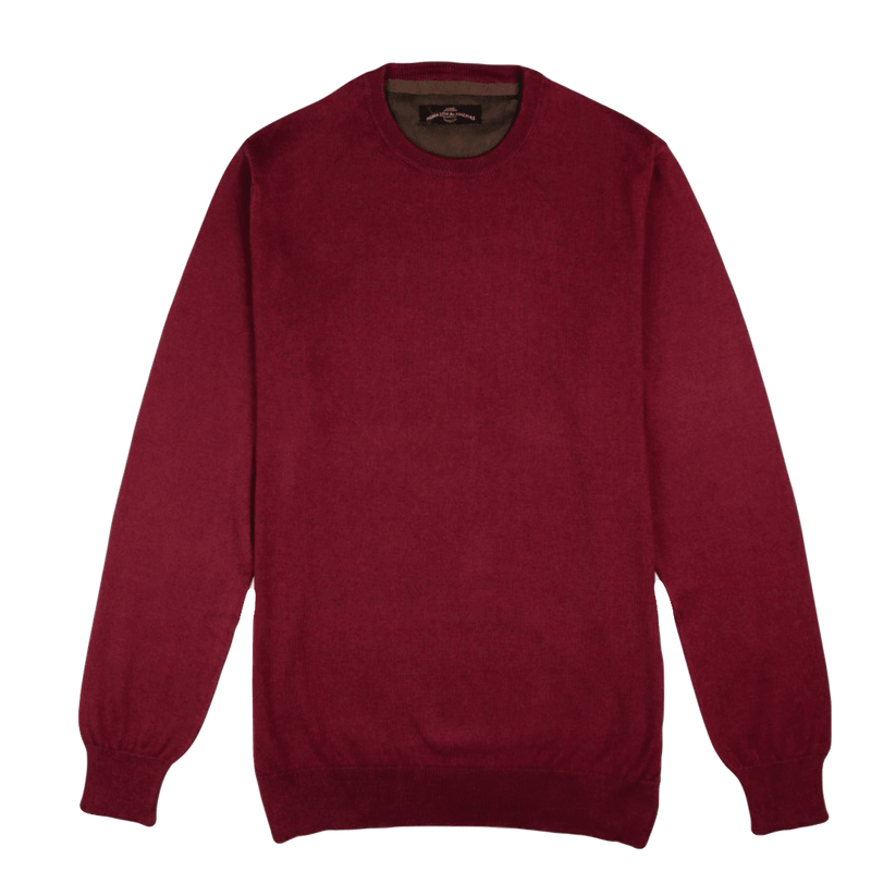 Crew Neck Bordeaux Sweater