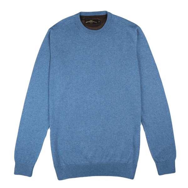 Crew Neck Blue Sweater